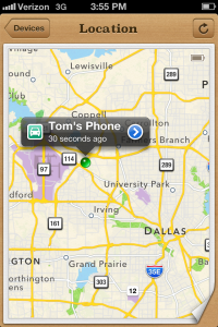 So, there he is in Dallas, Texas, having dinner and a drink with a client.